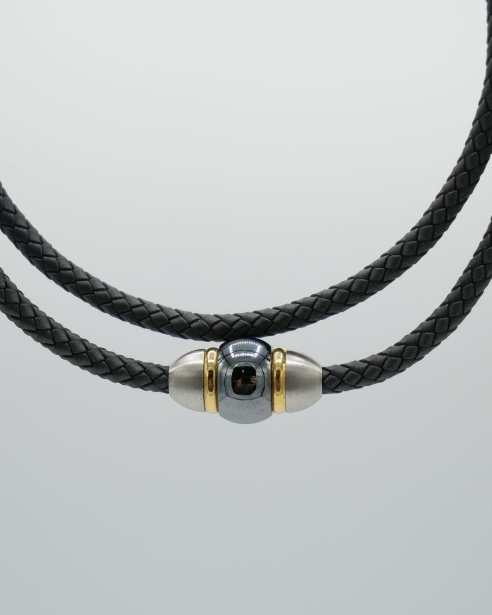 Bracelet double PVD Perle de Tahiti